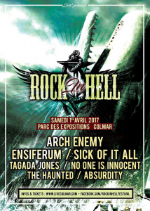 Rock In Hell Festival @ Parc des Expositions  - Colmar, France [01/04/2017]