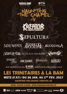 Haunting The Chapel Fest #5 @ Les Trinitaires - Metz, France [28/01/2017]