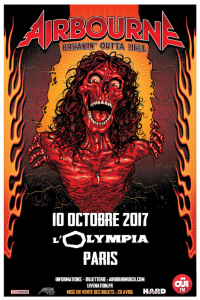 Airbourne @ L'Olympia - Paris, France [10/10/2017]