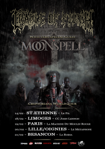 Cradle Of Filth @ CCM John Lennon - Limoges, France [18/02/2018]