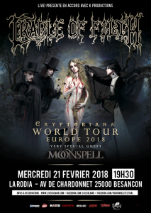 Cradle Of Filth @ La Rodia - Besançon, France [21/02/2018]