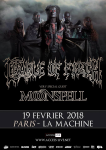 Cradle Of Filth @ La Machine du Moulin-Rouge - Paris, France [19/02/2018]