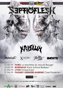 Septicflesh @ Rock School Barbey - Bordeaux, France [13/03/2019]