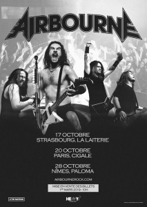Airbourne @ La Cigale - Paris, France [20/10/2019]
