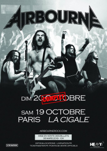 Airbourne @ La Cigale - Paris, France [19/10/2019]