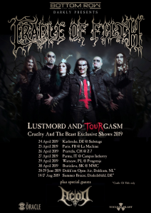 Cradle Of Filth @ La Machine du Moulin-Rouge - Paris, France [25/04/2019]