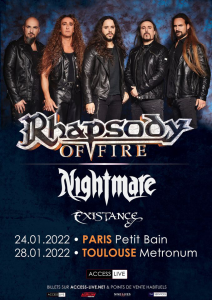 Rhapsody Of Fire @ Le Metronum - Toulouse, France [28/01/2022]