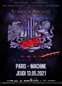 Sons Of Apollo @ La Machine du Moulin-Rouge - Paris, France [13/05/2021]