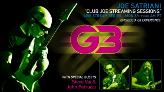 CLUB JOE STREAMING SESSIONS • G3 Experience : Joe Satriani, Steve Vai & John Petrucci