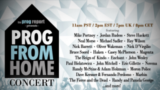 PROG FROM HOME • Un concert virtuel avec Portnoy, Rudess, Morse, Hackett…