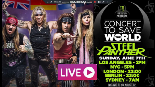 STEEL PANTHER • Concert To Save The World (Live-Stream Report)