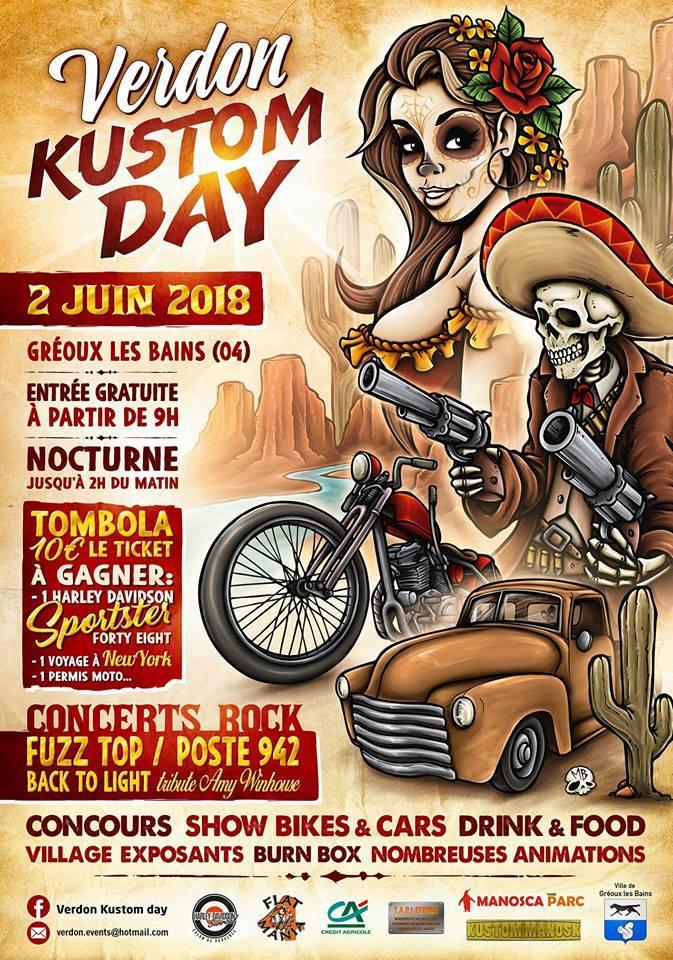 VERDON KUSTOM DAY <span>• Culture US à Gréoux-les-Bains</span>