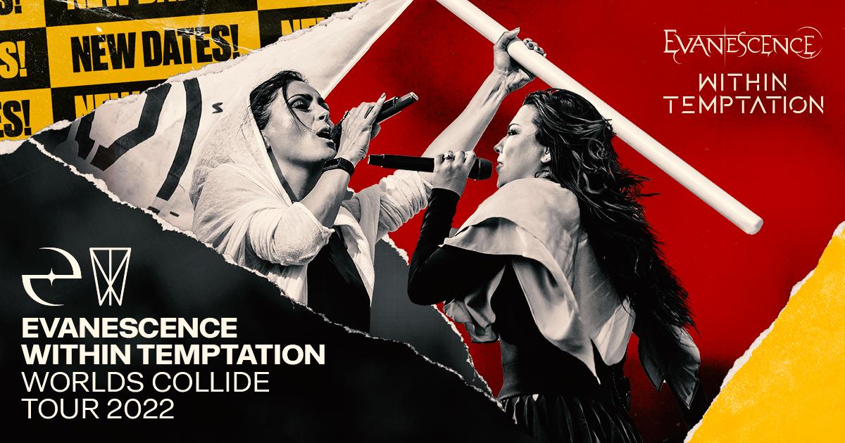 WITHIN TEMPTATION & EVANESCENCE La tournée The Worlds Collide reportée au printemps 2022